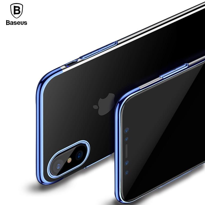 Caso de la Galjanoplastia Para el iphone X 10 Capinhas de Baseus Lujo Ultra Delgada galvanoplastia Funda Dura de la PC Para el iphone X Cáscara de Coque