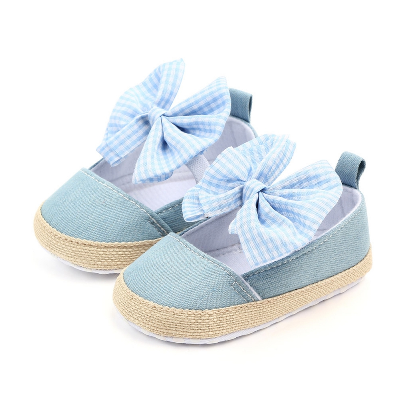 2020 Baby Girl Shoes Spring Autumn Bow Classic Canvas Cotton Baby Girl Shoes The First Walkers Fashion Comfort Baby Girl Shoes