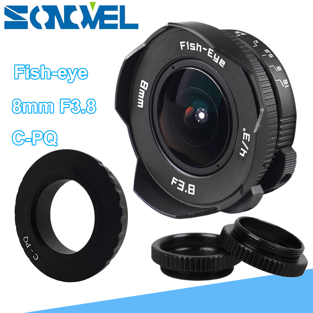8mm F3.8 Fish-eye CCTV Lens Manual Wide Angle Fisheye Lens Focal length Fish eye Lens Suit for Pentax Q/Q10/Q7/Q-S1 Camera стоимость