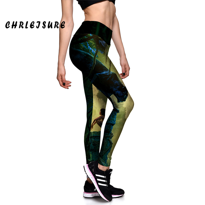 CHRLEISURE Printed Leggings High Quality The Jungle Book Movie Print Trousers Capris Workout Leggins Women Fitness Pants ...
