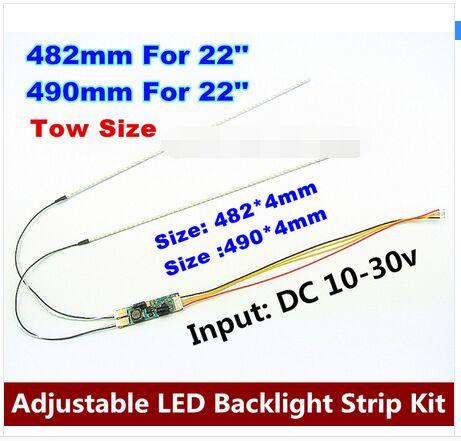 "20pcs 22"" 482mm 20pcs 490mm 22"" Adjustable Brightness Led Backlight Strip Kit,update Inch Lcd Ccfl Panel To Led Backlight"