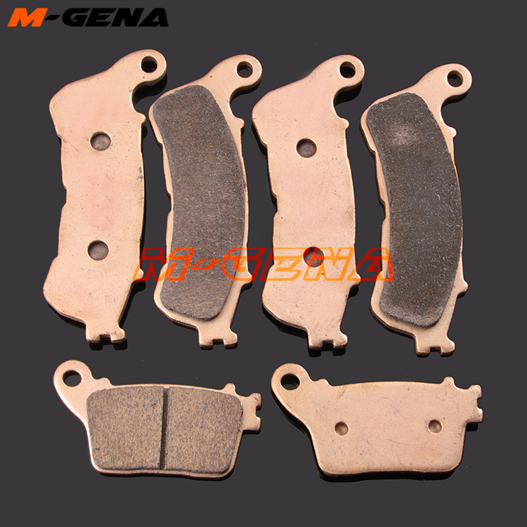 Motorcycle metal sintering brake pads For <font><b>HORNET</b></font> <font><b>600</b></font> CBF600 2007 <font><b>2008</b></font> 2009 2010 2011 2012 2013 CBR600F 11-16 12 13 14 15 ABS image