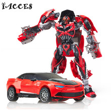 Cool Plastic Alloy Deformation Robot Car Toys Anime Brinquedos Movie 4 Action Figures Classic Model Toys