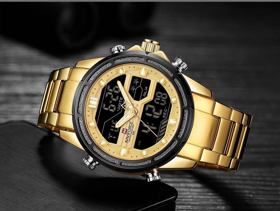 Top Luxury Brand NAVIFORCE Men Watches Military Waterproof LED Digital Sport Men's Clock Male Wrist Watch relogio masculino 11