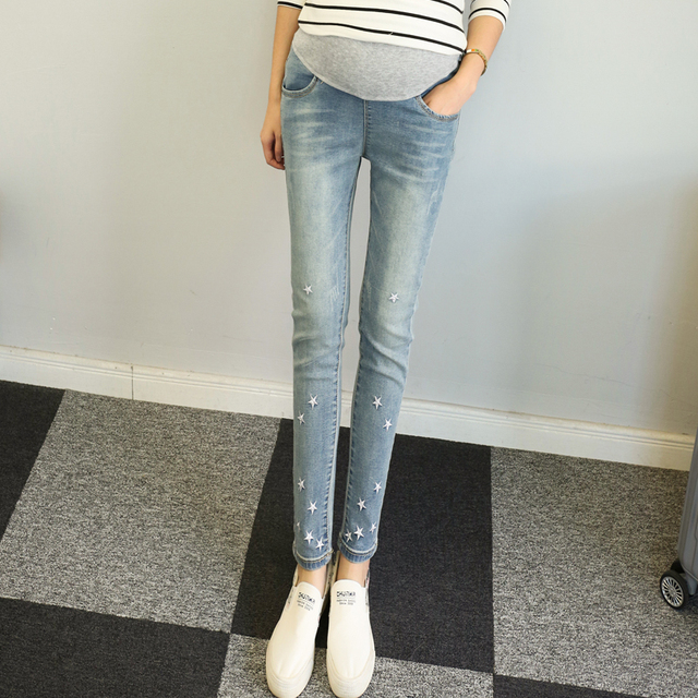 b15e0402965c8 2016 Hot Sale New Fashion pregnant women jeans pencil pants bigger sizes  show thin leg pants