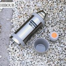 HIBOUR Thermobecher 1.2L Thermoskanne Tasse 304 Edelstahl reisewasserkocher Thermos Isolierte Becher Thermische Wasser Vakuumflasche Tasse