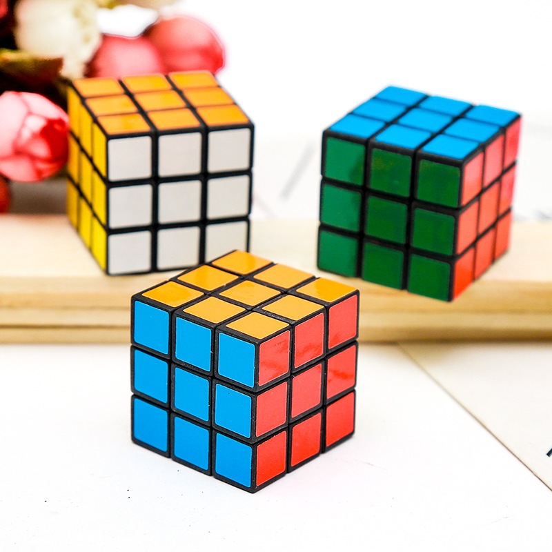 12 Pcs/lot 3cm Small Cube 3x3x3 Kids Mini Smooth Speed Magic Cube Early Educational Puzzle Cube Toys Gifts For Childrens