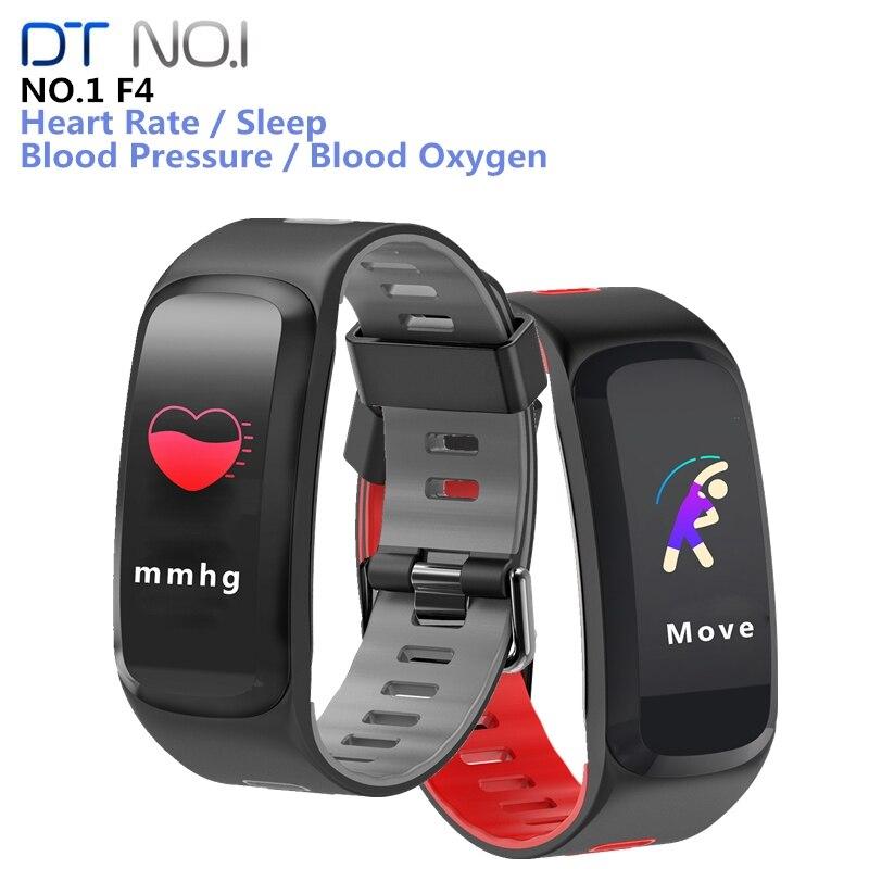 No.1 F4 Smart Bracelet IP68 Blood Pressure Blood Oxygen Heart Rate Bluetooth 4.0 Sport Fitness Wristband For IOS AndroidNo.1 F4 Smart Bracelet IP68 Blood Pressure Blood Oxygen Heart Rate Bluetooth 4.0 Sport Fitness Wristband For IOS Android