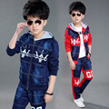 Boys Clothes 2017 Autumn Children Clothing Sets Sport Patchwork Denim Coat Jackets Jeans Pants Two Piece Kids Tracksuit Clothes