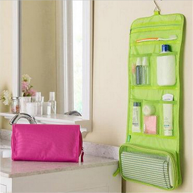 7811df78c0 Portable Cosmetic Bag Organizer Foldable Travel Bag Case Clothing Hanging  Storage Bags Toiletry Bags Wash Pouch PC840122