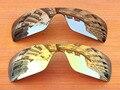 Chrome Silver & 24 K Oro 2 Unidades Espejo Polarizado Lentes De Repuesto Para Batwolf Marco de Gafas de sol 100% protección UVA y UVB protección