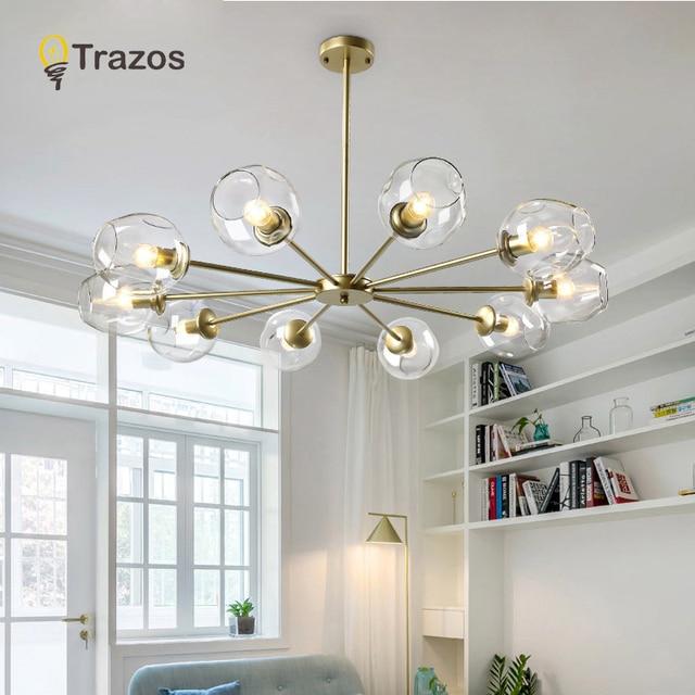 Minimalist Glass LED Pendant Lights For Living Dining room Bedroom colgante moderna Lamp pendentes para sala de jantar