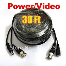 30ft 10M Video Power CCTV Cable With BNC Male For Security Camera