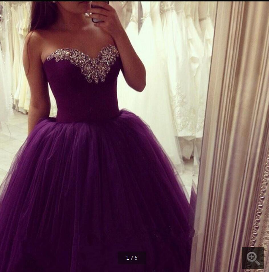 Online Buy Wholesale dark purple prom dress lace from China dark ...