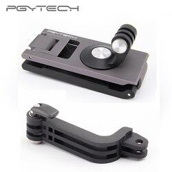 Em stcok pgytech para dji omso bolso ação câmera cinta titular l suporte de montagem rotativa para osmo bolso cardan handheld