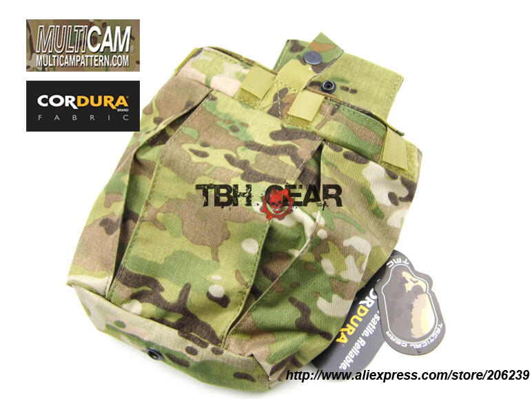 TMC 167 169 Medium Dump Pouch Genuine Multicam Pouch Airsoft Tactical Gear Magazine Drop Pouch Free