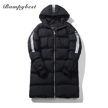 Bumpybeast Fashion winter men's  Long jacket 2017 Winter Hooded Bomber Jackets Thick Parkas men Warm Clothing US Size Overcoats