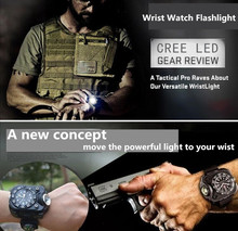 New Portable XPE Q5 LED Wrist Watch Flashlight Torch Light USB Charging Wrist Model Tactical Rechargeable Flashlight lantern