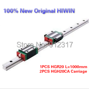 все цены на  Original HIWIN Linear Guide Rails 1PCS HGR20 L=1000mm+2PCS HGH20CA carriage  онлайн