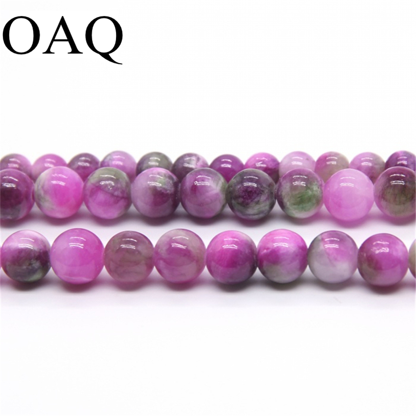 Double color Natural Taishan beads 4-10mm Loose the  stone beads for fashion jewelry making