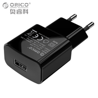 ORICO Mobile Phone Charger 5V 1A or 2A USB Travel Charger Portable Wall Adapter EU Plug Black White