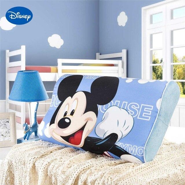 Bleu Lumineux Colore Mickey Souris Memoire Oreillers 50x30 Cm