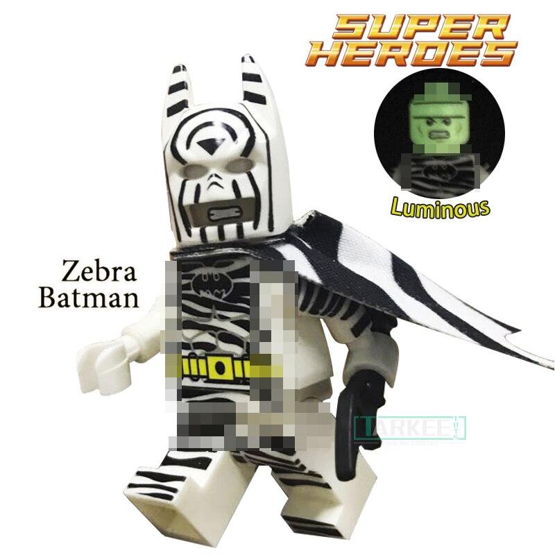 1 шт. головы ночник Зебра Бэтмен супер героев пользовательские Темный рыцарь Детские классические модели Building Конструкторы дети игрушечные...