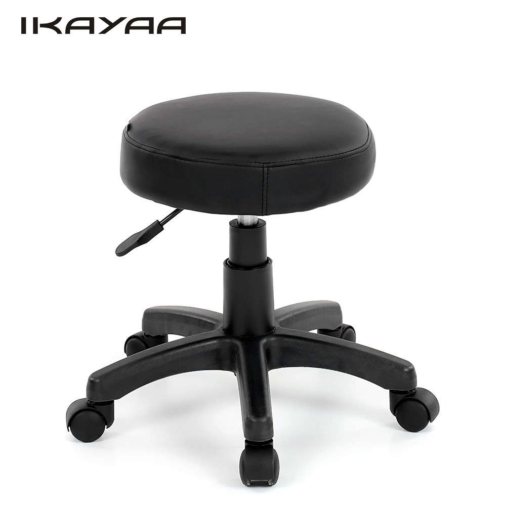 Ikayaa De Stock Bar Stool Pu Leather Swivel Bar Stool
