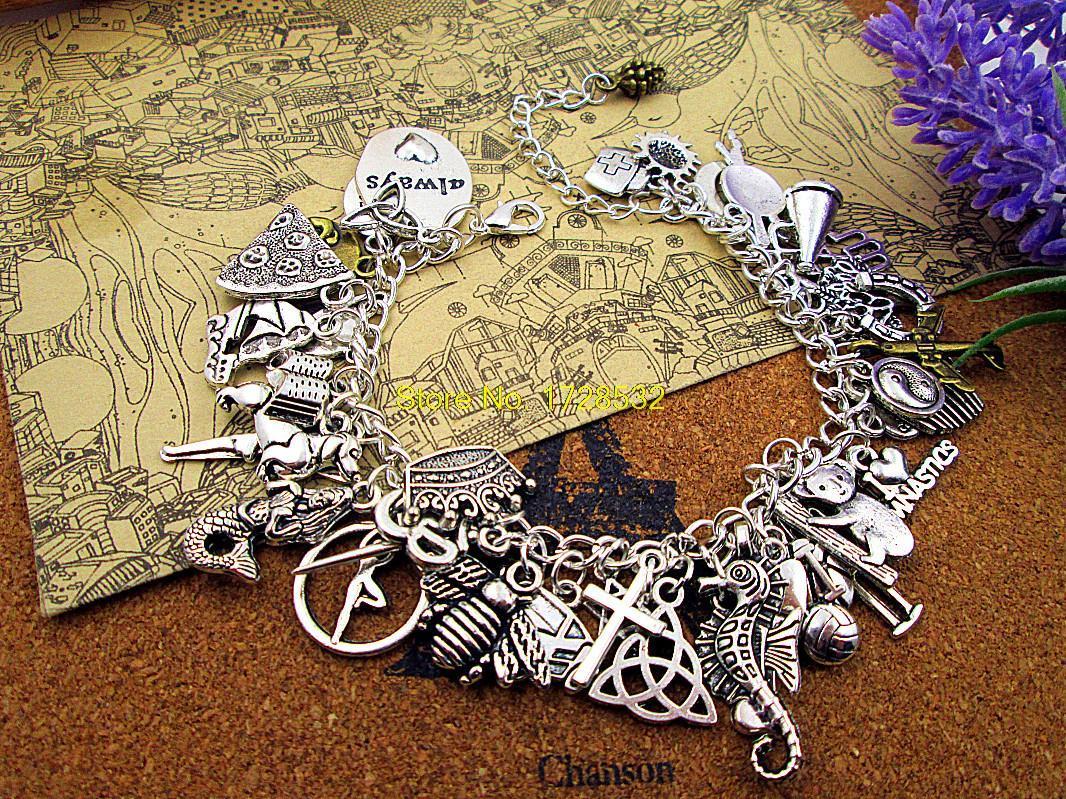 Hot Sale Charm Bracelet Kit,jewelry Making Kit, 40 Charms,digital  Instructions,full Of Charms, Charms Bracelet