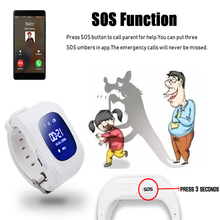 Q50 OLED Screen GPS Smart Kid Watch