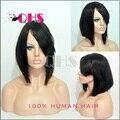 Плотность 130% лучший короткометражный боб парики бразильские волосы короткие парики guleless полный передние короткие человека боб парики для женщин