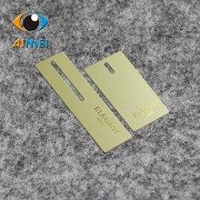 Настроить 400 Бумага gsm бирки с Золотая фольга логотип для высококачественной этикетки для одежды печать бирка одежды