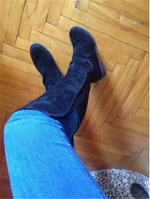 e5ac101ff5c8b US $18.99 |COVOYYAR Kniehohe Stiefel 2017 Patchwork Black Knight Lange  Frauen Stiefel Winter Herbst Mode Frauen Schuhe WBS15 in COVOYYAR Kniehohe  ...