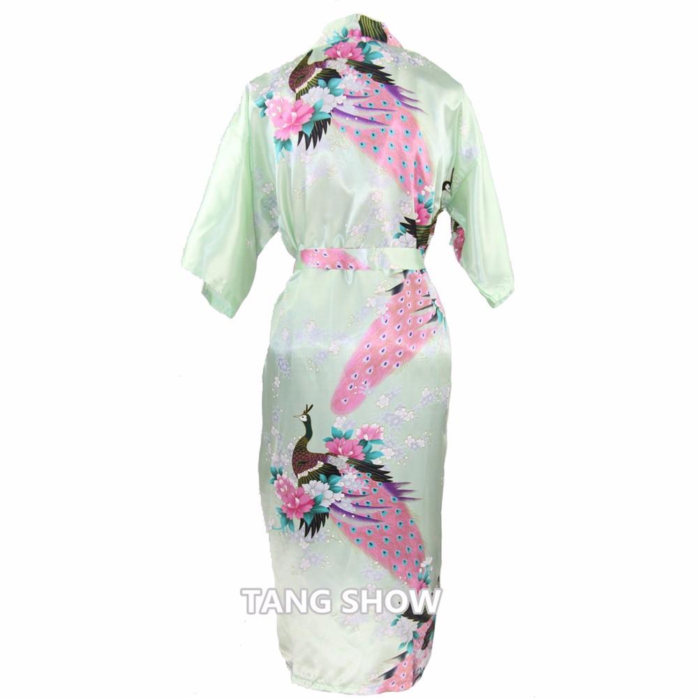 Long Style Chinese Women Satin Nightgown Sleepwear Brides Wedding ... e7f3f344d