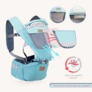 Image 4 - Bebek taşıyıcı ergonomik taşıyıcı sırt çantası Hipseat yenidoğan ve bebek için önlemek o tipi bacak sling bebek kanguru