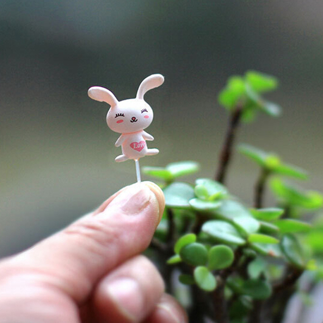 100Pcs Miniatures Fixed Pin Fairy Garden Miniatures Gnomes Moss Terrariums Resin Craft Figurines For Home Decoration 3