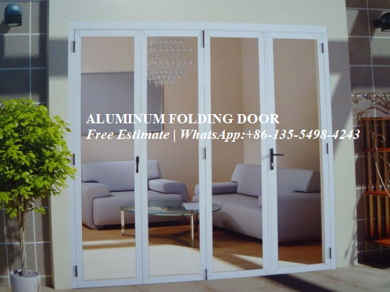 Aluminum Folding Door For Restaurant,Wood Color Surface Treatment Aluminium Profile 70 Series Glass Folding For Balcony Door