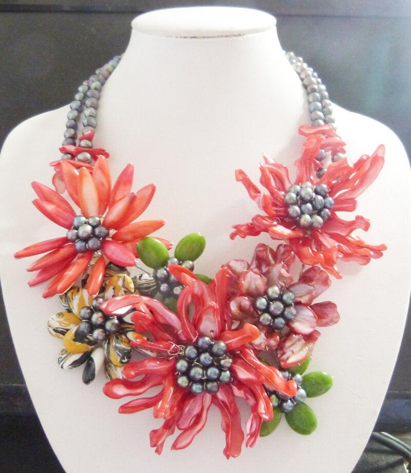 zw 112 Goodness Shell Flower Necklace