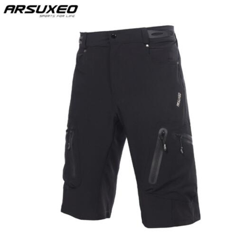 ARSUXEO Men's Outdoor Sports Cycling Shorts MTB Downhill Shorts Mountain Bike Bicycle Shorts Water Resistant Loose Fit
