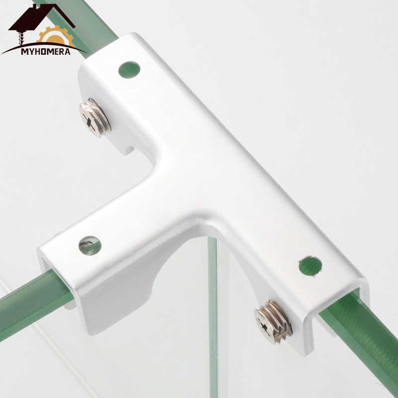 Myhomera 2szt szklane zaciski półki uchwyt 2-4 sposoby na 6mm 10mm 12mm grube szkło klipy uchwyt narożny zacisk prezentacja aluminium