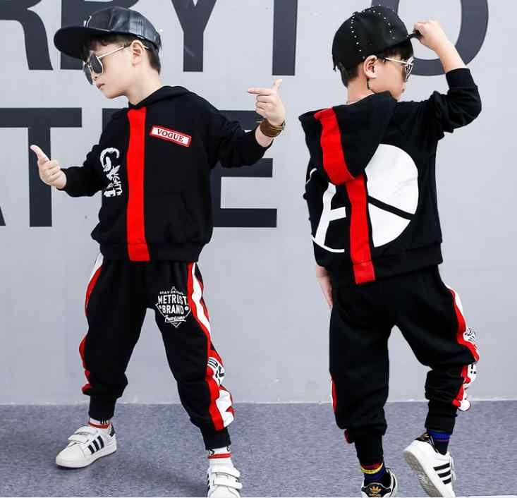 Осеннее платье для мальчиков коллекция 2018 года, новый комплект в Корейском стиле осенний детский модный свитер детская одежда из двух предметов для мальчиков