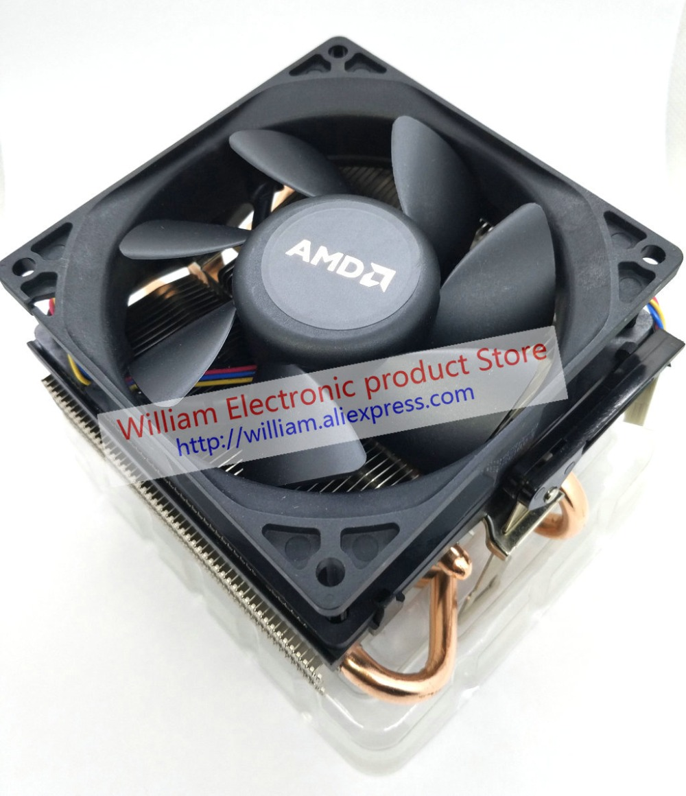 New Original for AMD Computer CPU Cooler FX8350 12V 0.32A Dual Ball Bearing 1500-3800 RPM Copper Mute AVC cooling fan 4pcs new for ball uff bes m18mg noc80b s04g