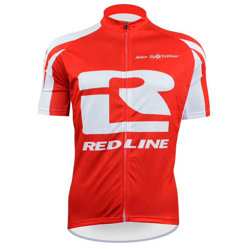 Cycling shirt bike equipment RED LINE Pattern Men top Sleeve Bicycle Clothing Red/White Breathable Cycling Jersey Size XS-5XL IL 2016 new men s cycling jerseys top sleeve blue and white waves bicycle shirt white bike top breathable cycling top ilpaladin