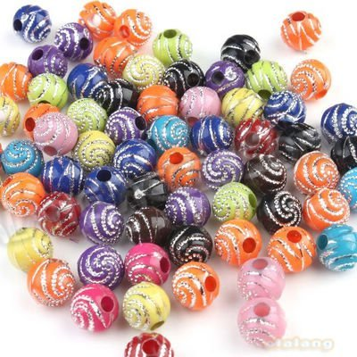 600pcs/lot Fashion Mixed Color Round Plastic Acrylic Beads10x3mm Fit Charms Jewelry Making Beading Craft 110699