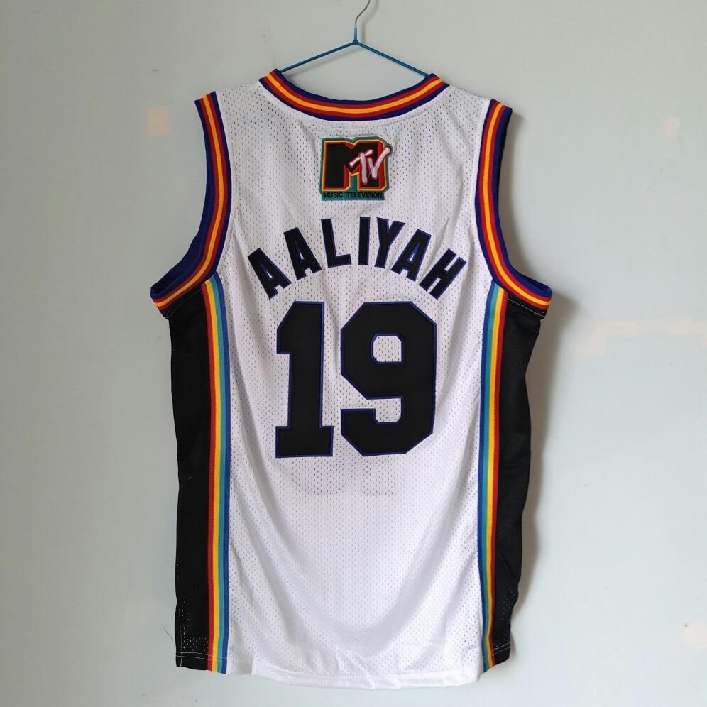 cc9fd72fb38 ... 19 aaliyah bricklayers rock n jock basketball jersey white s xxl free  shipping in basketball jerseys