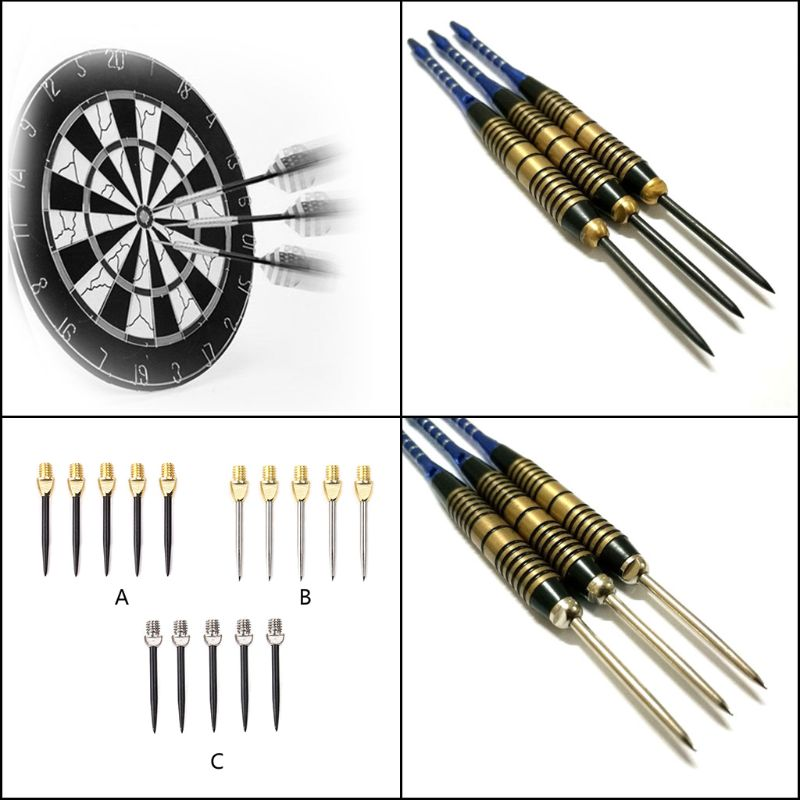 6pcs Professional Replaceable Dart Steel Tip 2BA Thread Darts Needle Accessories