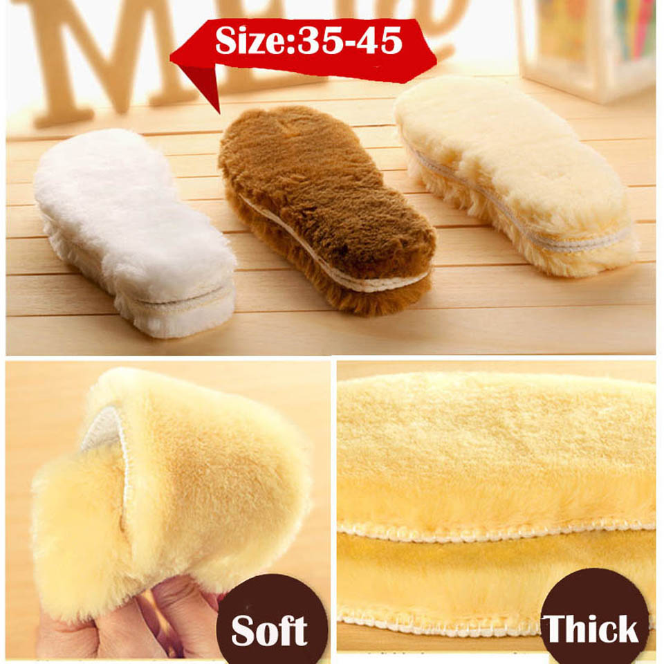 NANCYTINO Warm Heated Insoles Soles For Shoes Winter Thick Pad Warm Insoles Imitation Wool Breathable Snow Boots Fur Insoles Pad