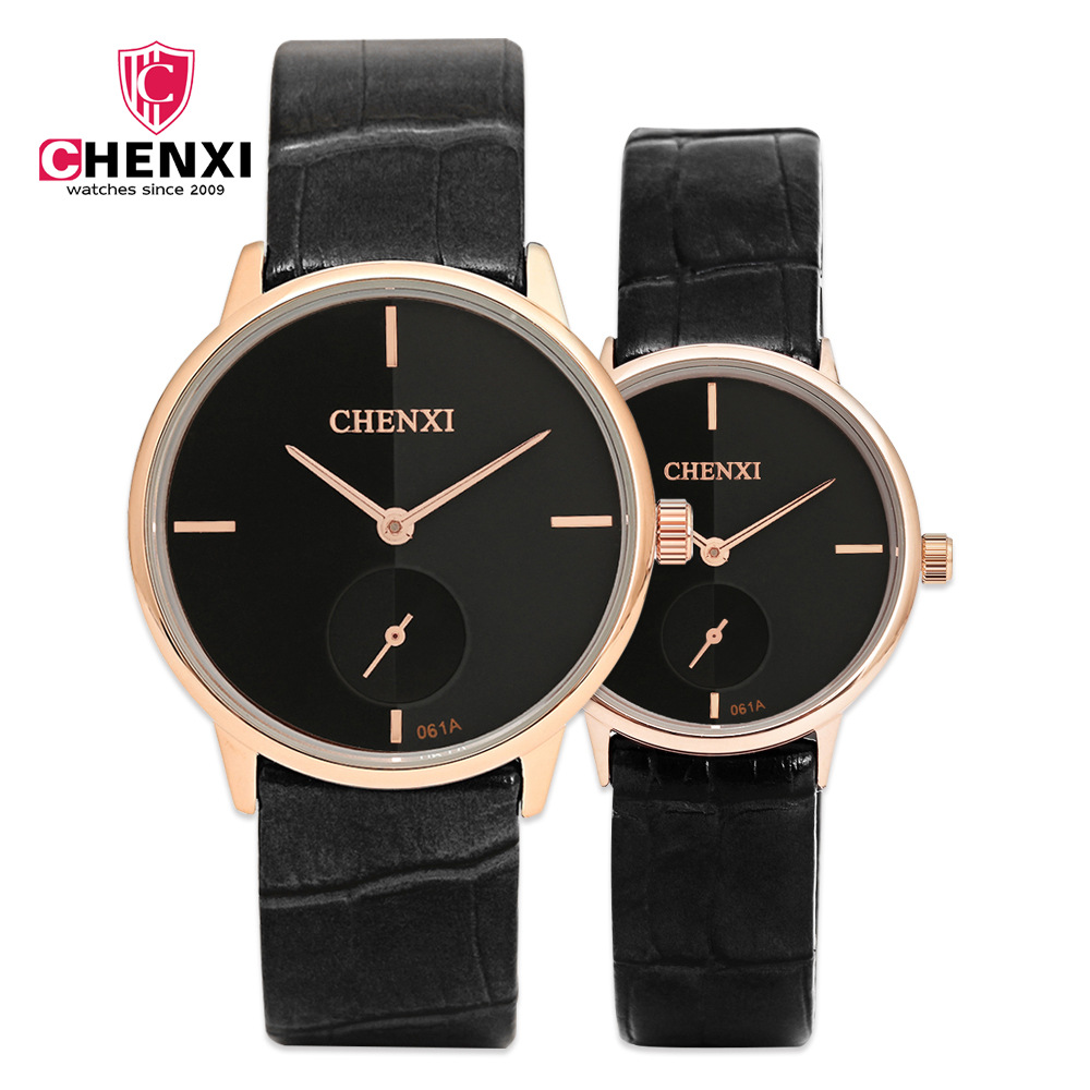 CHENXI Mens Watches Top Brand Luxury Leather Watchband Hand Clock With Second Dial High Quality Fashion Male Gift Hour NATATE