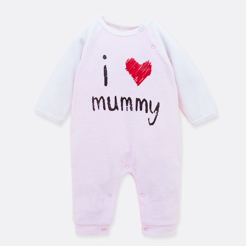 f7fb57d8e2c8 0 18M Spring Coral velvet Baby Rompers Cute baby romper mummy newborn baby  girl clothes Jumpsuit baby costume Free shipping-in Rompers from Mother    Kids on ...
