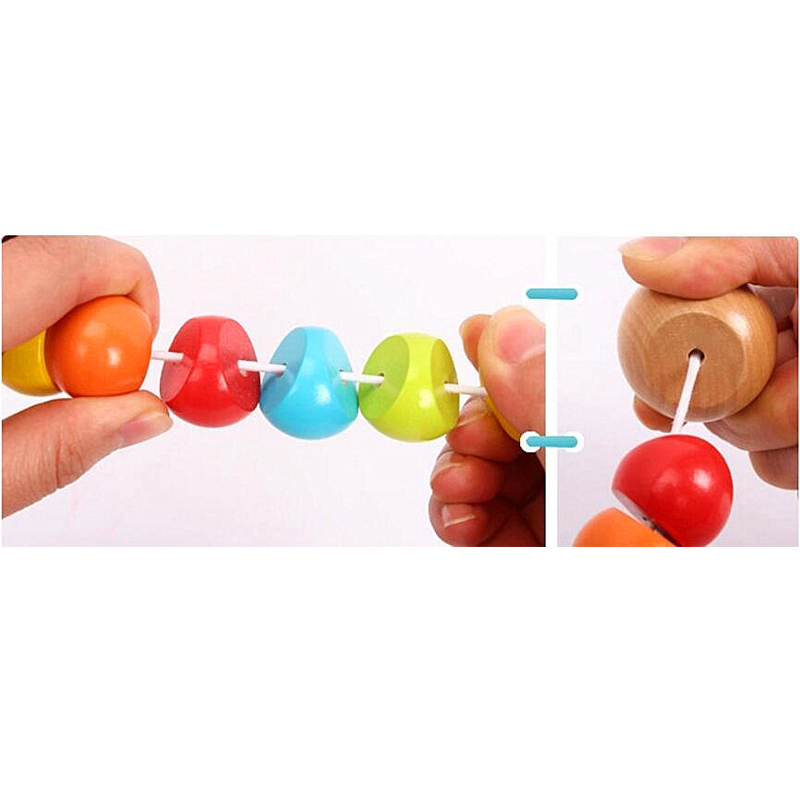 Montessori Toys Educational Wooden Toys for Children Early Learning Baby Exercise Fingers Flexible Twist Insects